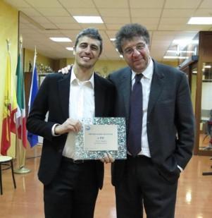 Pif con Gaetano Savatteri, presidente del premio
