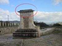 La fontana Novi cannola oggi, senza i due vasi di pietra