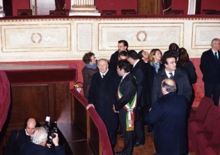 Il presidente Ciampi in teatro