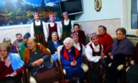 Il gruppo della Lettonia in visita alla casa di riposo di San Michele