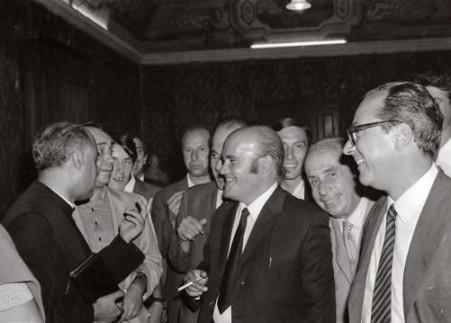 1969. Eugenio Napoleone Messana presenta il suo libro su Racalmuto