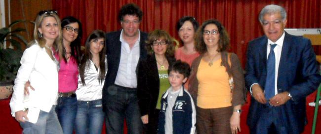 Gli studenti del Linares con Gaetano Savatteri