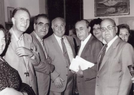 Casuccio con Sciascia e i colleghi maestri