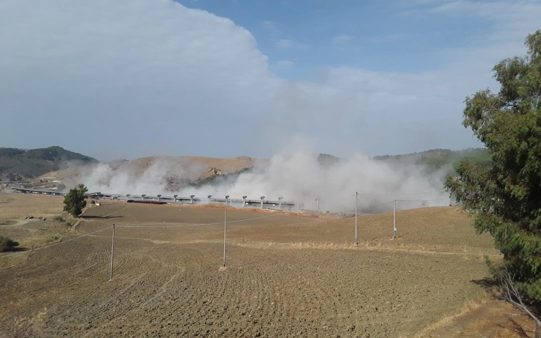 Statale 640, demolizione del Viadotto Salso