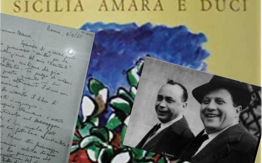 """Il tenore Infantino a Sciascia: """"Fammi stu favurazzu"""""""
