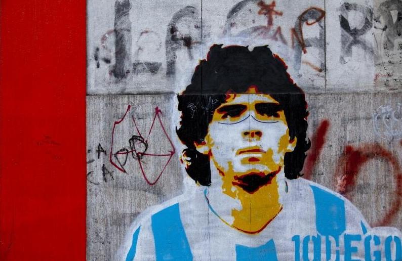 Il mio omaggio a Maradona