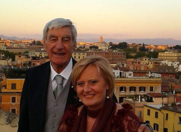 Nicolò Piazza con la moglie