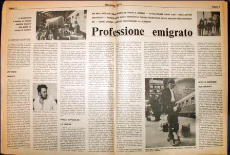 """""""Professione emigrato"""". I nostri Paginoni raccontano"""