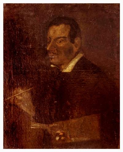 Pietro D'Asaro, autoritratto. Olio su tela