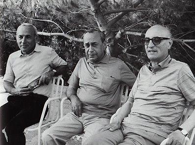 Sciascia, Consolo e Bufalino alla Noce (Foto Leone)